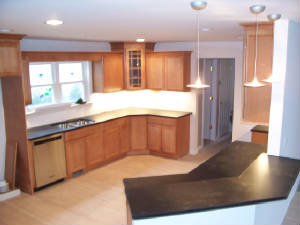 Granite counter top maple cabinets. Canton Michigan