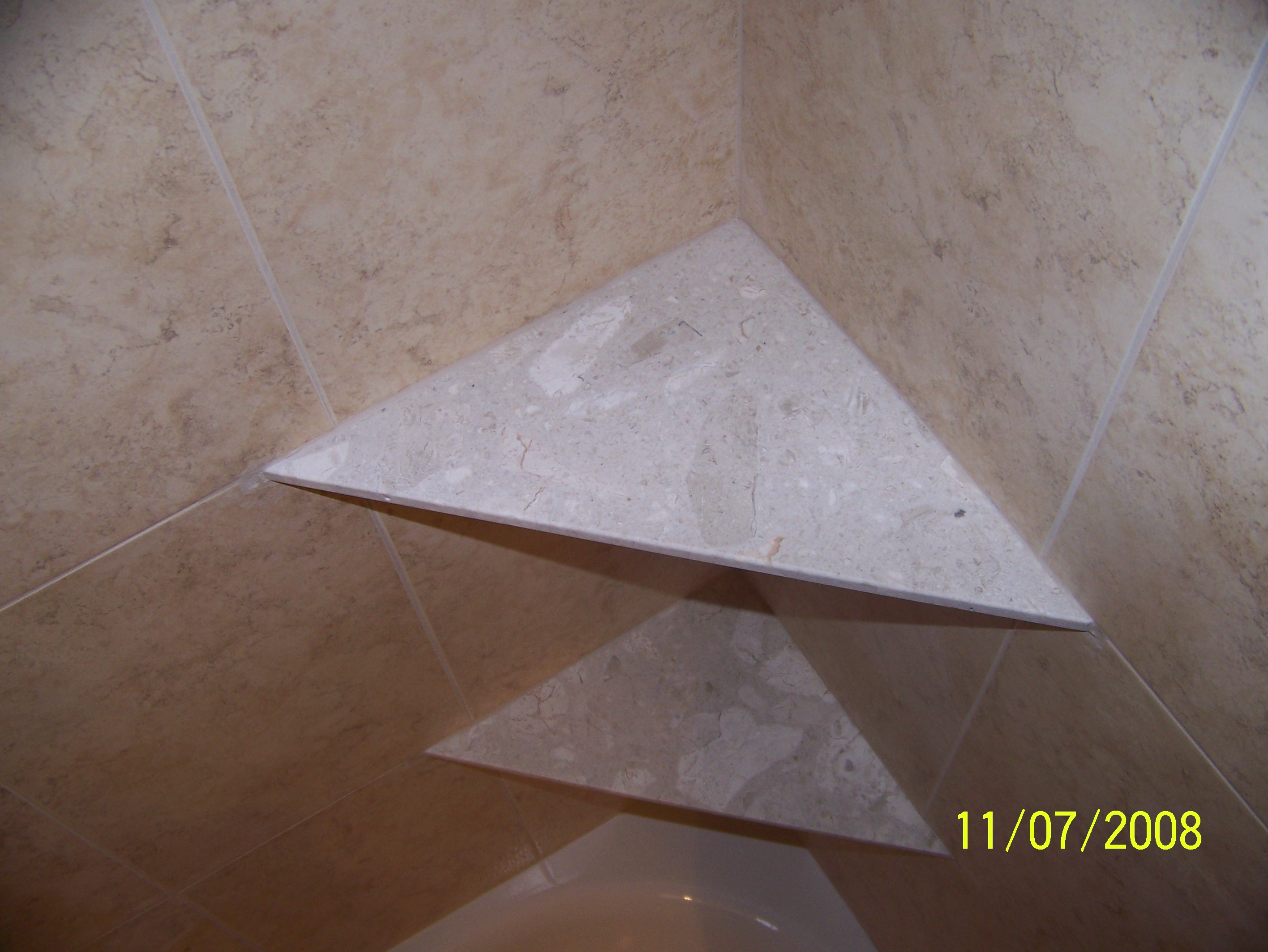Installing Ceramic Tile Shower Shelves - Tile Designs